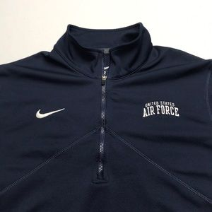 US AIR FORCE / NIKE TRAINING Blue 1/4 Zip Shirt